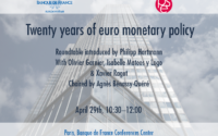 Twenty years of euro monetary policy – April 29th 2019