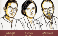 """The 2019 Sveriges Riksbank Prize in Economic Sciences in Memory of Alfred Nobel has been awarded to Abhijit Banerjee, Esther Duflo and Michael Kremer """"for their experimental approach to alleviating global poverty."""""""